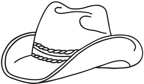 Cowboy Hat Coloring Page cowboy hat coloring pages 6739 bestofcoloring