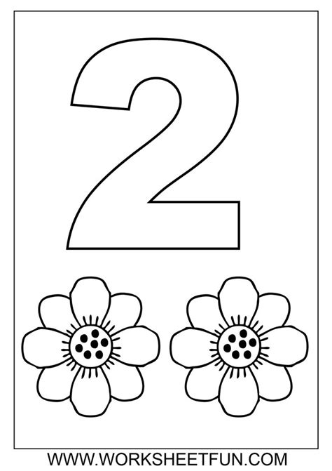 coloring page number two printable color number for adults color number coloring