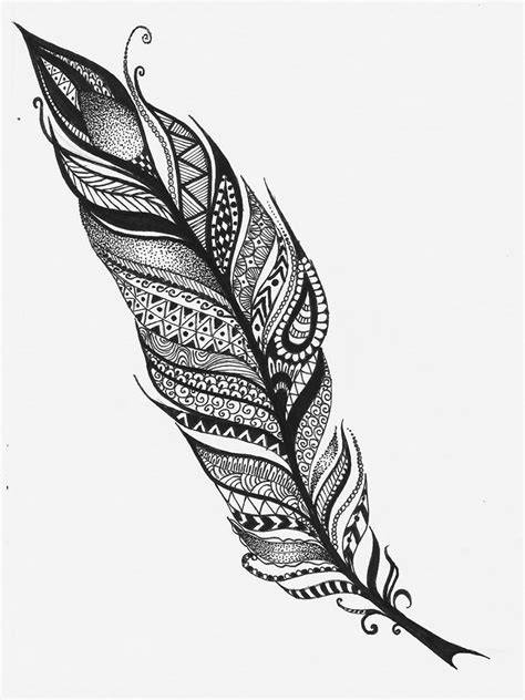tribal feathers tattoos feather tribal feather pencil and in color