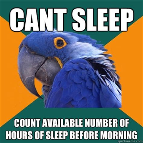 Cant Sleep Meme - cant sleep count available number of hours of sleep before
