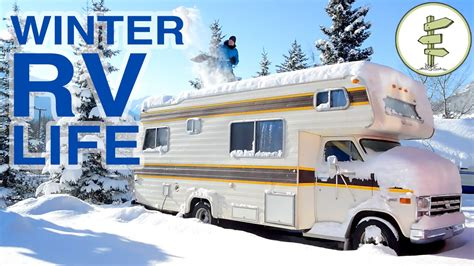 living on your boat in the winter couple living in an rv in winter living in a van in