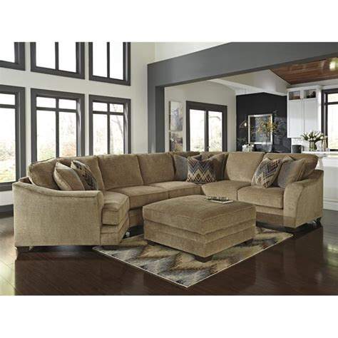 left cuddler sectional ashley lonsdale 2 piece left cuddler loveseat sectional