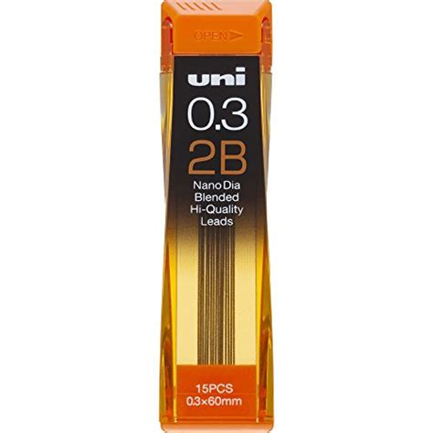 uni nanodia mechanical pencil 0 3 mm lead 2b 4902778030615
