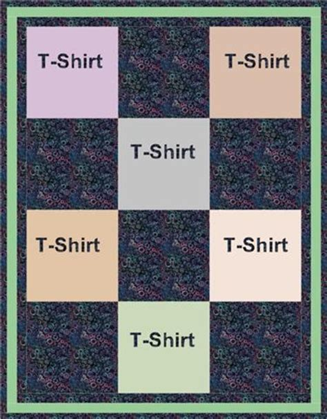 t shirt quilt layout price list