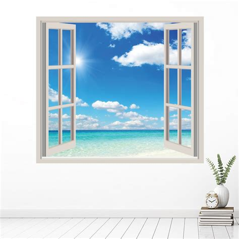 sunny beach wall sticker window wall decal