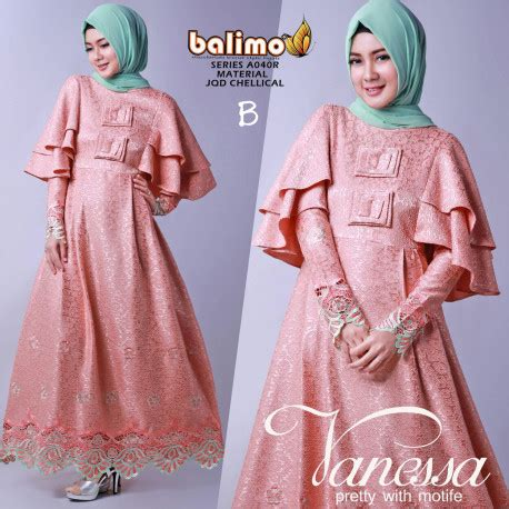 Dress Pesta Vanesha new b pusat busana gaun pesta muslim modern