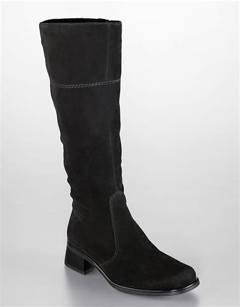 la canadienne laren suede boots in black black suede lyst
