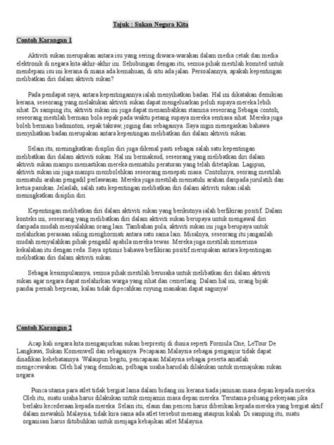 contoh karangan bm scribd read unlimited books contoh karangan sukan pt3