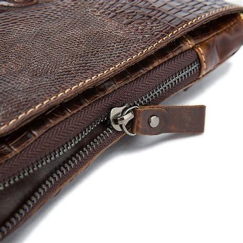 Tas Selempang Vintage Bahan Kulit tas selempang pria model vintage bahan kulit buaya asli