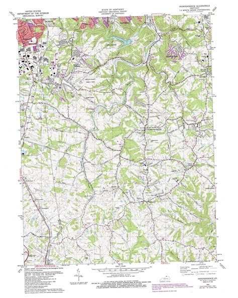 independence kentucky map independence topographic map ky usgs topo 38084h5