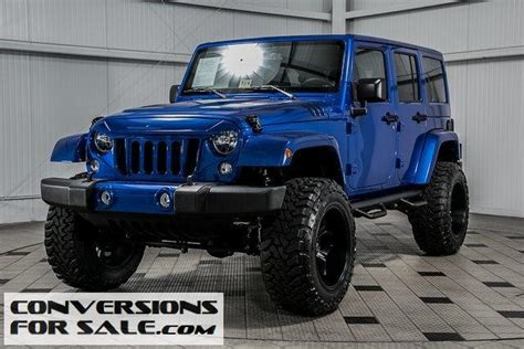 jeep lifted blue lifted blue jeep wrangler unlimited for sale in