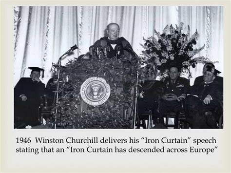 winston churchill delivers iron curtain speech ppt post wwii and the cold war powerpoint presentation
