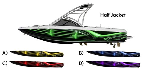 boat wraps ebay half jacket boat wrap choose your color customized