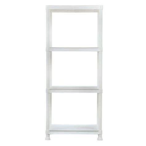 hdx 4 shelf 14 in d x 22 in w x 52 in h white plastic