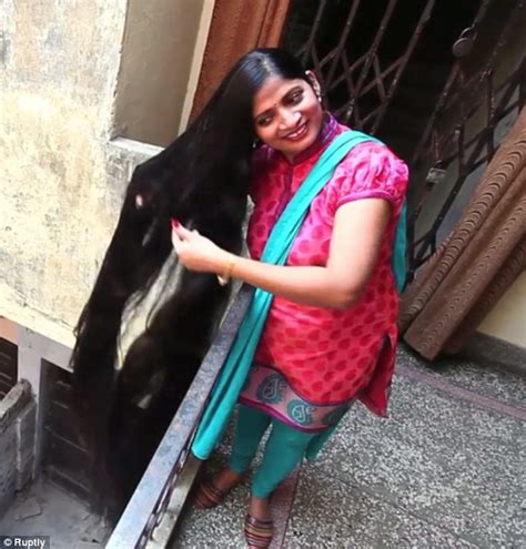 world guiness record holder for longest pubic hair indian woman with seven foot long hair hopes to becoming