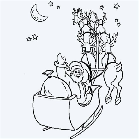 coloring pictures of santa in his sleigh free coloring pages of santa on sleigh