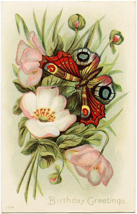 digital images for card birthday greetings vintage postcard image design