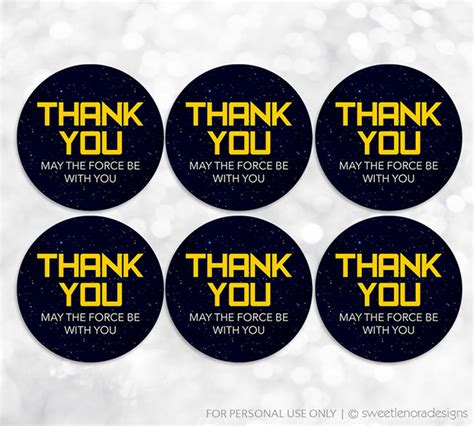 printable thank you tags star wars chandeliers pendant lights