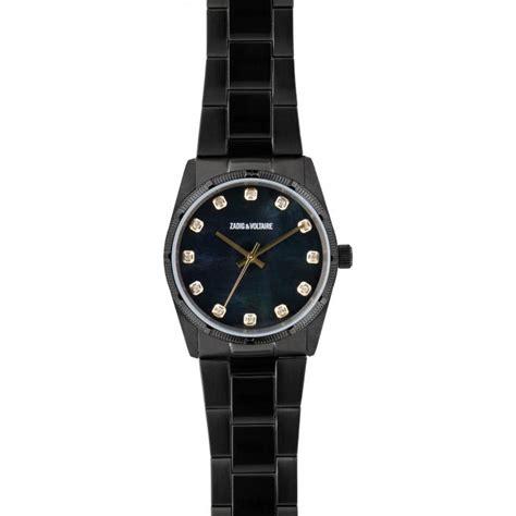 montre zadig et voltaire fusion zvf222 montre acier analogique femme sur bijourama montre