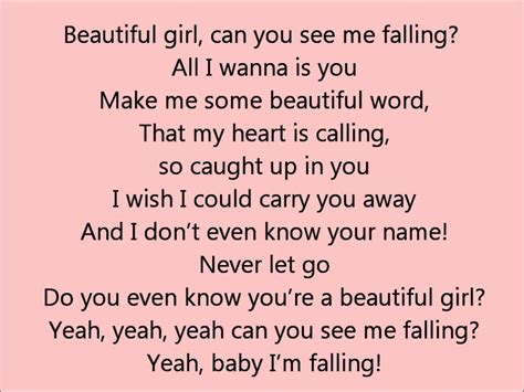 beautiful lyrics glee beautiful girl lyrics youtube