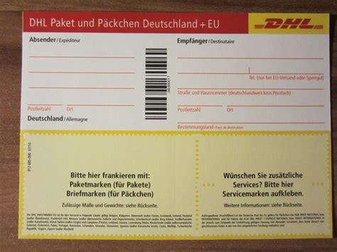 Paketschein Drucken Unfrei by Post Warensendung Mit P 228 Ckchenschein Bechriften Dhl