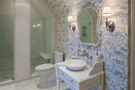 french bathroom traditional tudor style home with french interiors