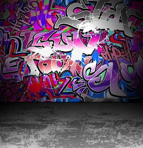 graffiti wall urban street art painting stock vector
