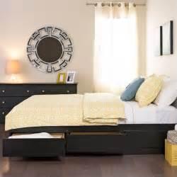 Bedroom furniture beds prepac sonoma black queen platform storage bed