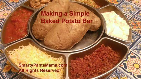baked potato bar toppings soups are some healthy options available images frompo