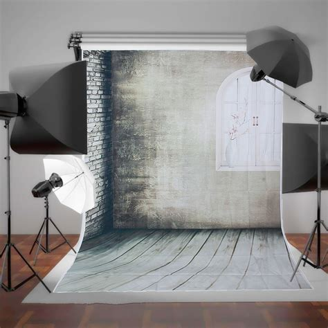 Back In Studio by 1 5 215 2 1m Arched Windows Gray Wall Non Woven Shooting