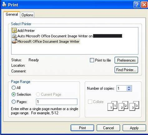 how to print a section of a web page window xp tips how to print part of a document web page