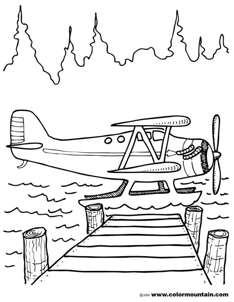 Water Plane Coloring Page | airplane in airport coloring page airplane coloring