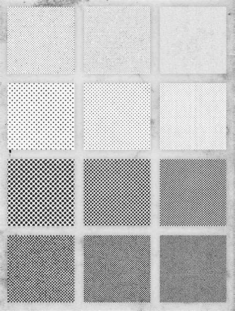 illustrator pattern density free pack of 12 distressed halftone pattern textures