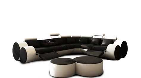 black and white recliner an air of modernity in white leather coffee table coffe