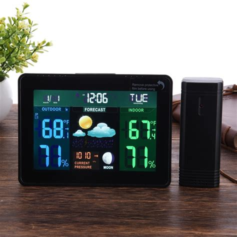 color wireless weather station indooroutdoor thermometer