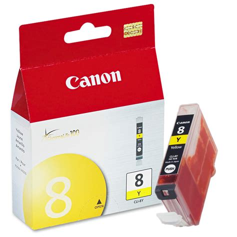 Canon Cli 8 Yellow canon cli 8y 0623b002 original yellow ink cartridge at inkjetsuperstore