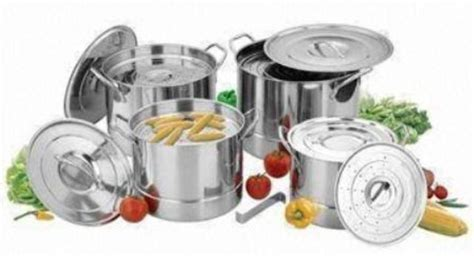 Panci Supra 12 Pc panci set stainless 12 pc kukusan steamer stock pot alat