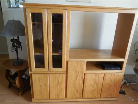 entertainment center on wheels 5 8 quot plywood with oak veneer entertainment center with