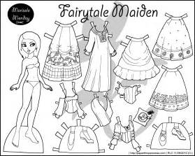paper doll coloring pages four paper dolls in black and white for coloring