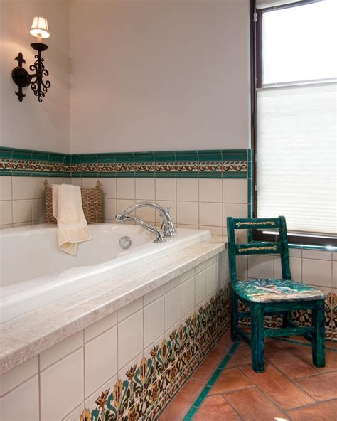 spanish bathroom tile photo page hgtv