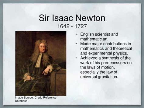 biography of isaac newton and his contribution name banner powerpoint