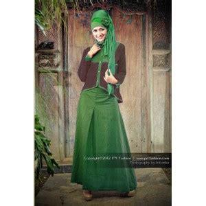 P N Fashion Gamis 0817 Coklat stl 0602 hijau baju muslim gamis modern