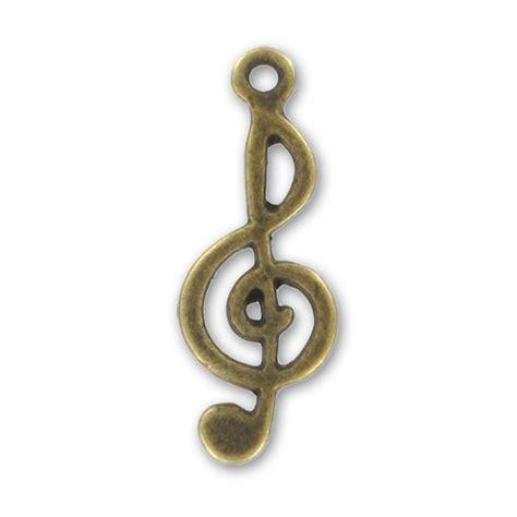 libreria chiave di violino ciondolo chiave di violino mm 26 bronzo x1 perles co