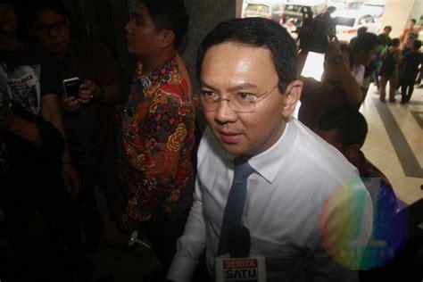 ahok korupsi satu harapan ahok jalani pemeriksaan sebagai saksi kasus