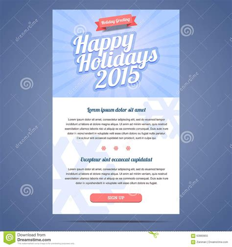 Email Template With Greeting Christmas And Happy Stock Vector Image 63860855 Illustrator Email Template