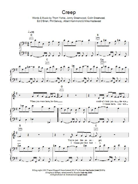 Old Fashioned Creep Guitar Chords Sketch - Beginner Guitar Piano ...
