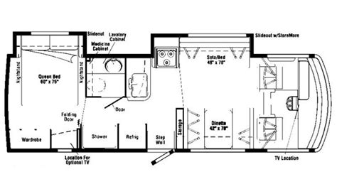 itasca rv floor plans 2008 itasca sunova 29r photos details brochure floorplan