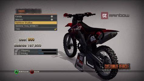 xbox 360 motocross mx vs atv reflex xbox 360 quot bike upgrades quot youtube
