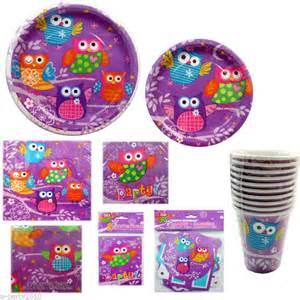 Purple owl party supplies baby stuff pinterest