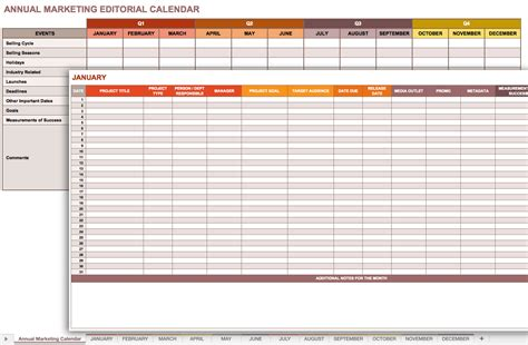 Marketing Calendar Template Cyberuse Marketing Schedule Template